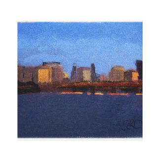 Portland at Sunrise Canvas Print