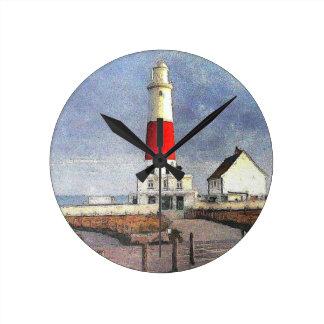 Portland Bill Lighthouse Round Clock