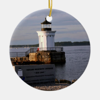 Portland Breakwater Light Ceramic Ornament