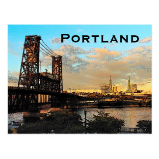 Portland Bridge Postcard