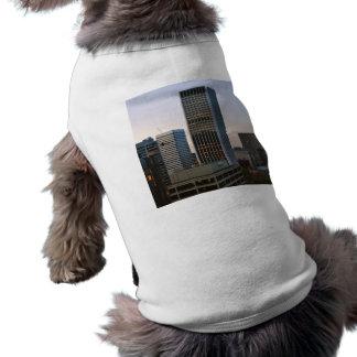 Portland City Skyline at Dusk Sleeveless Dog Shirt