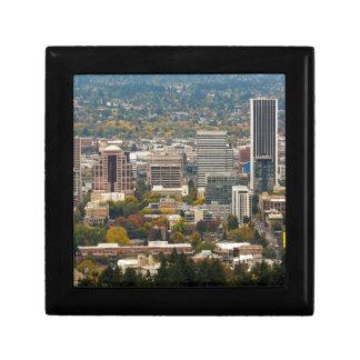 Portland Downtown Cityscape in Fall Season Gift Box