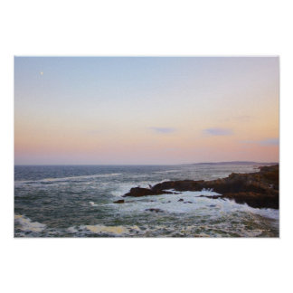 Portland Head and view to Atlantic Ocean Poster