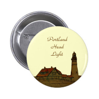 Portland Head Light 6 Cm Round Badge