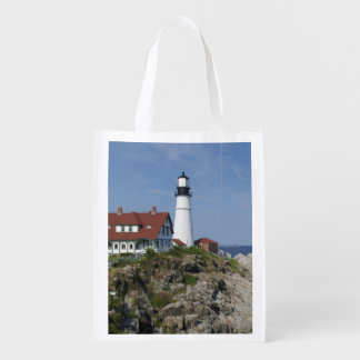 Portland Head Light, Cape Elizabeth,Maine, Reusable Grocery Bag