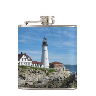 Portland Head Light Hip Flask