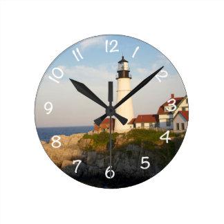 Portland Head Light House Round Clock