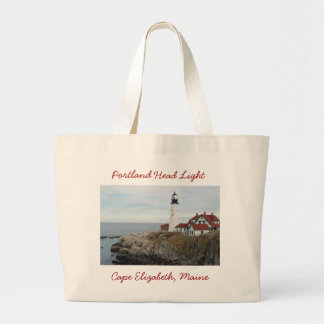 Portland Head Light Large Tote Bag
