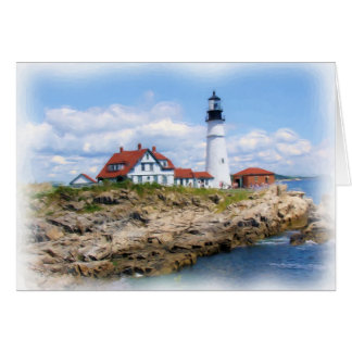 Portland Head Light Notecard
