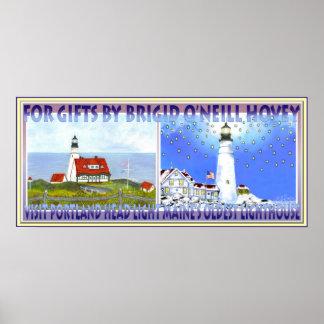 Portland Head Light, Travel Poster for Trolly