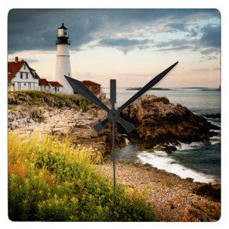 Portland Head Lighthouse | Cape Elizabeth, Me Square Wall Clock