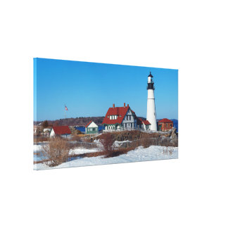 Portland Head Lighthouse Pano Canvas Print