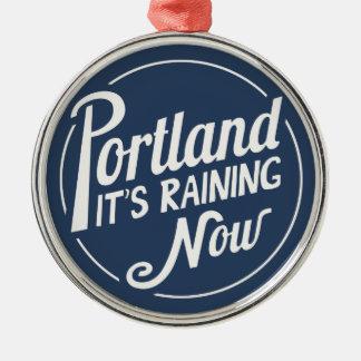 Portland-It's Raining Now Christmas Tree Ornaments