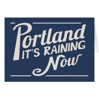 Portland-It's Raining Now Greeting Card