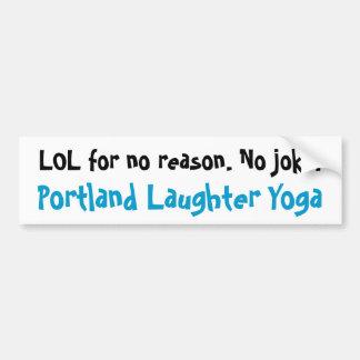 Portland Laughter Yoga LOL Bumper Sticker