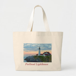 Portland Ligthouse Large Tote Bag