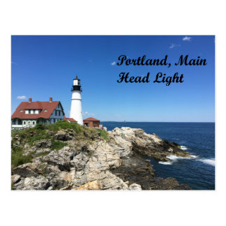 Portland Main Head Light Lighthouse 2017 Postcard