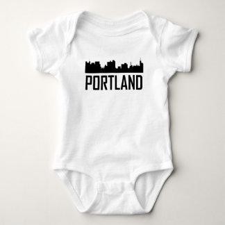 Portland Maine City Skyline Baby Bodysuit