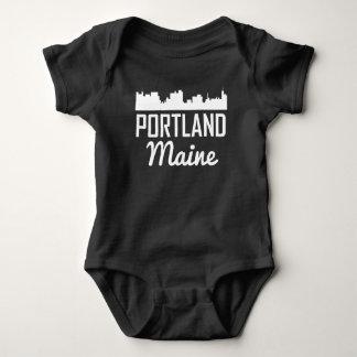 Portland Maine Skyline Baby Bodysuit