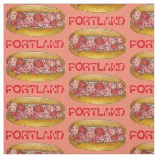 Portland ME Maine Lobster Roll Sandwich Foodie Fabric