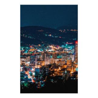 Portland Night Skyline Stationery