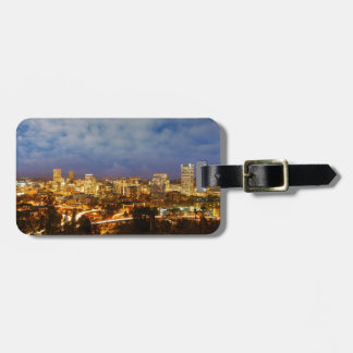 Portland OR Cityscape at Blue Hour Luggage Tag