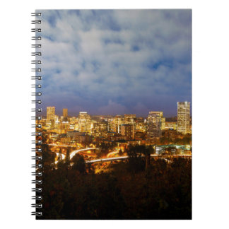 Portland OR Cityscape at Blue Hour Notebook