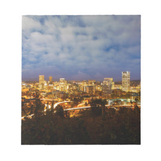 Portland OR Cityscape at Blue Hour Notepad