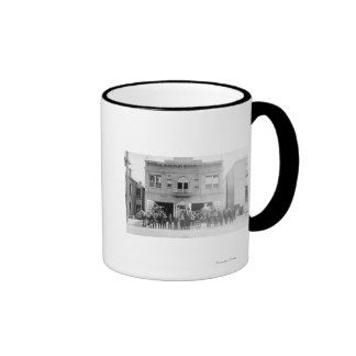 Portland, OR Fire Station Horse Drawn and Men Mug