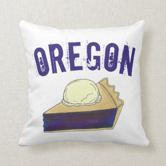 Portland OR Oregon Marionberry Berry Pie Slice Cushion