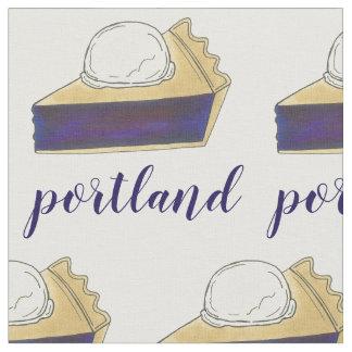 Portland OR Oregon Marionberry Berry Pie Slice Fabric