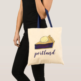 Portland OR Oregon Marionberry Berry Pie Slice Tote Bag