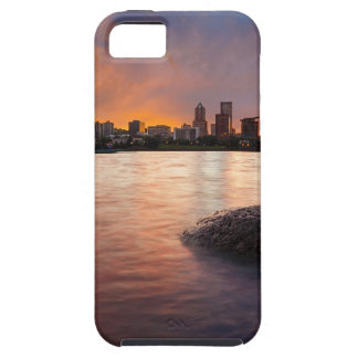 Portland OR Skyline along Willamette River Sunset iPhone 5 Case