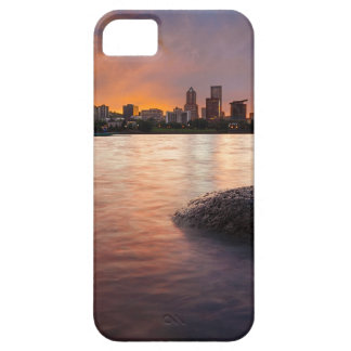 Portland OR Skyline along Willamette River Sunset iPhone 5 Cover