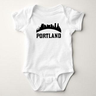 Portland OR Skyline Baby Bodysuit