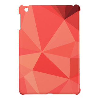 Portland Orange Abstract Low Polygon Background iPad Mini Cases