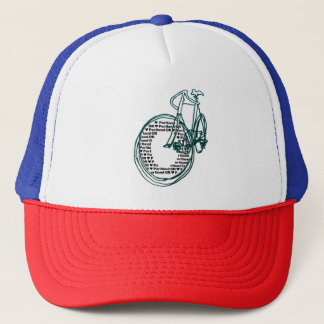 Portland Oregon Bicycle Red White Blue Trucker Hat