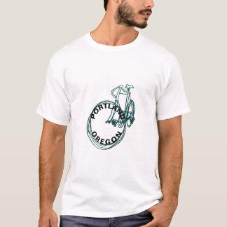Portland Oregon Bike Mens White T-Shirt