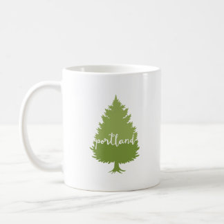 Portland, Oregon calligraphy tree Coffee Mug