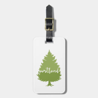 Portland, Oregon calligraphy tree Luggage Tag