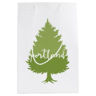 Portland, Oregon calligraphy tree Medium Gift Bag