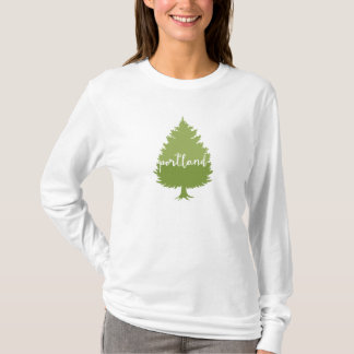 Portland, Oregon calligraphy tree T-Shirt