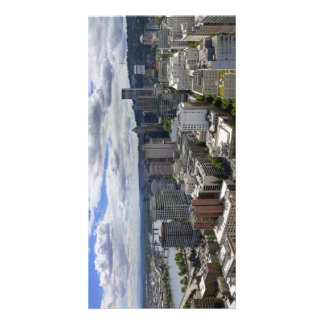 Portland Oregon Downtown Aerial View Postcard Photo Greeting Card