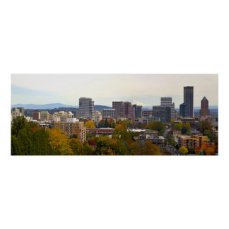 Portland Oregon Fall Season Colors Poster