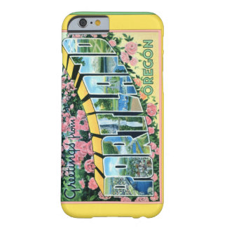 Portland Oregon Large Letter Greetings Barely There iPhone 6 Case