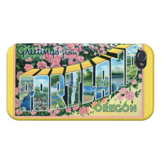 Portland Oregon Large Letter Greetings iPhone 4/4S Cases