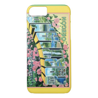 Portland Oregon Large Letter Greetings iPhone 7 Case