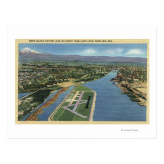 Portland, Oregon - Swan Island Airport Looking Postcard