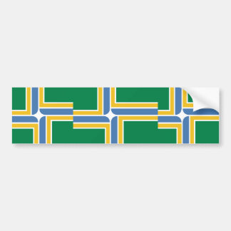 Portland, Oregon, United States flag Bumper Sticker