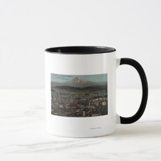 Portland, Oregon - View of Downtown with Mt Mug